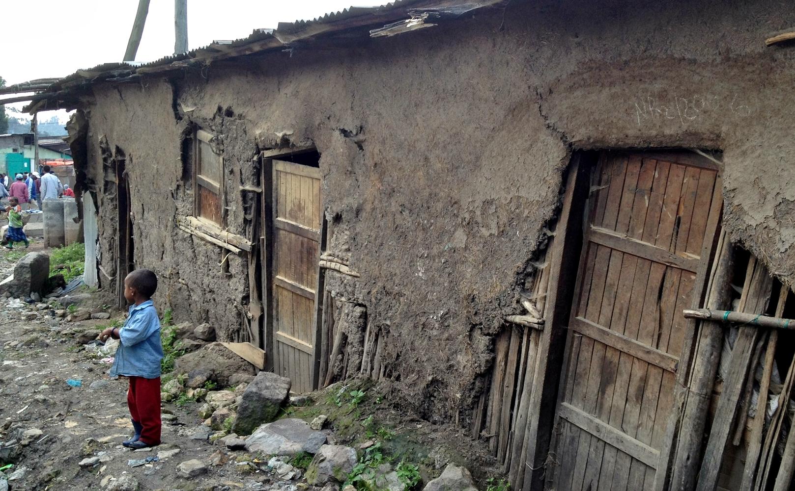 A slum in Ethiopia.
