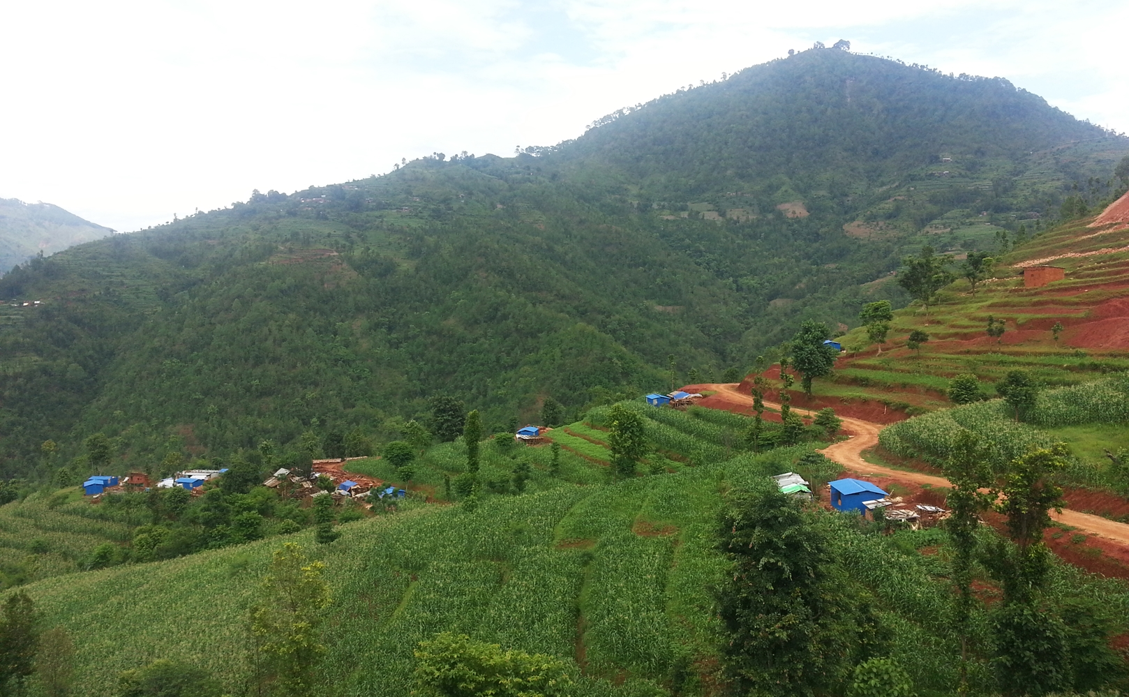 Our local partner LTD built zinc houses for 100 Dalit families in Baireni, Dhading